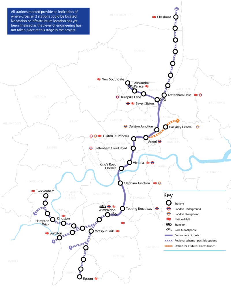 Crossrail2 map